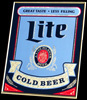 Lite Beer NEW Cold Beer Bar Mirror