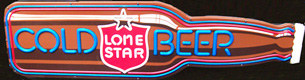 Lone Star Texas Beer Illuminated Long Neck Bottle Sign