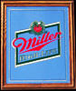 Miller High Life Vintage Classic Oak Framed Bar Mirror