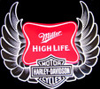 Miller High Life - Harley Davidson Motorcycles NEW Tin Bar Sign