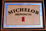 Michelob Brewing Company Bar Back Mirror