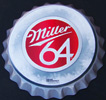 Miller 64 Beer 3D Bottle Cap Tin Sign