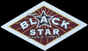 Minott's Black Star Beer Diamond Shaped Bar Mirror