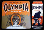 Olympia Set of 2 Olympia Beer & Olympia Big Foot NEW Tin Signs