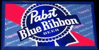 Pabst Blue Ribbon GIANT NEW Barback Mirror