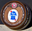 Pabst Blue Ribbon Vintage Barrelhead Bar Sign