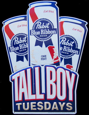 Pabst 6 Pack Tin Sign