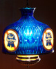 Pabst Blue Ribbon Beer Vintage Electric Blue Hanging Lamp