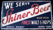 Shiner Beers Spoetzl Brewery Shiner Texas NEW Tin Sign