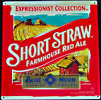 Blue Moon Short Straw Farmhouse Red Ale Tin Sign