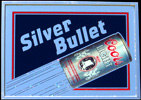 Coors Light Silver Bullet 1985 Illuminated Mirror