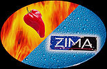 Zima Oval Tin Sign