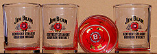 Jim Beam Whiskey Set of 4 12oz. Old Fashioned Glasses