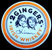 Two Gingers Irish Whiskey NEW Tin Sign