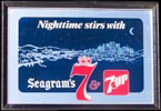 Nighttime Stirs With Seagram's 7 and 7UP Vintage Bar Mirror