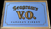 Seagrams VO Large Bar Back Mirror