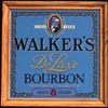 Hiram Walker's Deluxe Bourbon Whiskey Oak Framed Vintage Bar Mirror