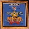 Hiram Walker's Special Blended Canadian Whisky Oak Framed Vintage Bar Mirror