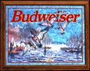 Budweiser Ducks 1997 Smoked Glass Wildlife Bar Mirror