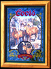 Coors Bighorn Sheep Reflective Glass Plaque