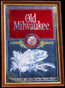 Old Milwaukee Bass Large Vintage Bar Mirror