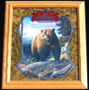 Old Milwaukee Bear Wildlife Reflective Glass Plaque
