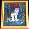 Old Milwaukee Wolf Wildlife Reflective Glass Plaque