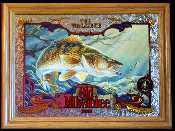 Old Milwaukee Walleye Wildlife Mirror