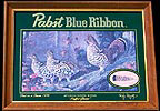 Pabst Blue Ribbon Ruffed Grouse Reflective Glass Wildlife Plaque