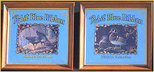 Pabst Blue Ribbon Combo Set - 1989 Wisconsin Turkey Stamp and 1990 Wood Ducks Wildlife Bar Mirrors