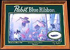 Pabst Blue Ribbon Woodcock Reflective Glass Wildlife Plaque