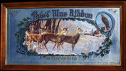 Pabst Blue Ribbon 1991 Whitetails Deer Wildlife Mirror