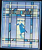 Blue Nun Wine Simulated Stained Glass Vintage Bar Mirror