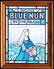 Blue Nun Wine by the Glass Simulated Stained Glass Vintage Bar Mirror