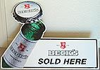 Beck's Beer Sold Here Tin Sign