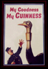 My Goodness My Guinness Ostrich Framed Print