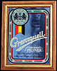 Grenzquell German Pilsner Beer Vintage Smoked Glass Bar Mirror