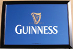 Guinness Harp Bar Back Mirror