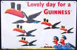 Lovely Day For a Guinness Tin Sign