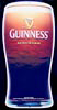 Guinness Chromium Plastic Pint Glass Bar Sign