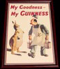 My Goodness My Guinness Kangaroo Framed Print
