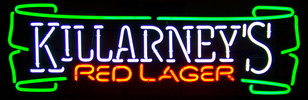 Killarney's Irish Red Lager Neon Sign