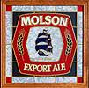 Molson Export Ale Translucent Simulated Stained Glass Sun Catcher Bar Sign