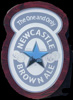Newcastle Brown Ale Frosted Glass Logo Shaped Rare Bar Mirror